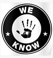 Skyrim - 'We Know' Dark Brotherhood Hand Print Poster