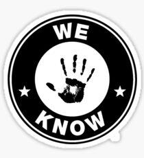 Skyrim - 'We Know' Dark Brotherhood Hand Print Sticker