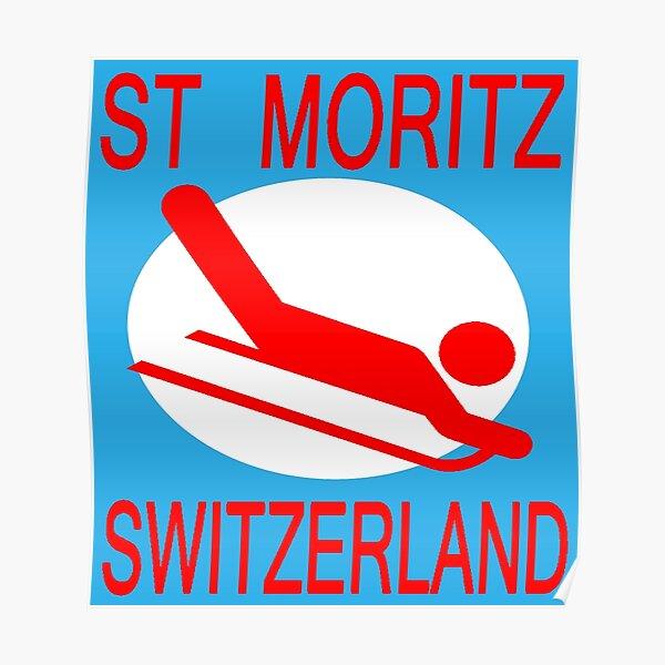 Ice Skating 1948 Winter Olympics St Moritz Switzerland Poster Repro FREE SH