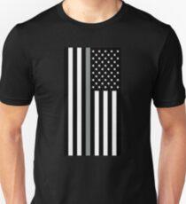 U.S. Flag: Thin Grey Line Unisex T-Shirt
