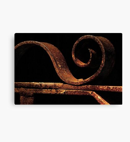 Rusted gate Canvas Print