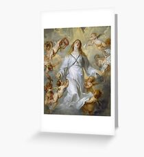 Anthony Van Dyck - The Virgin As Intercessor Greeting Card