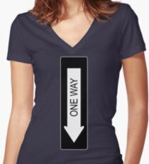 One Way Women's Fitted V-Neck T-Shirt
