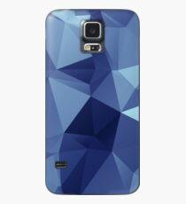 Blaues geometrisches Muster Hülle & Klebefolie für Samsung Galaxy