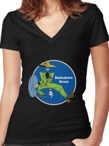 Shakedown Street Women's Fitted V-Neck T-Shirt