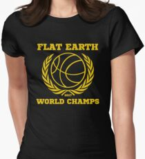 Flat Earth World Champs - GOLD EXCELLENT basketball Flat Earth Designs T-Shirt