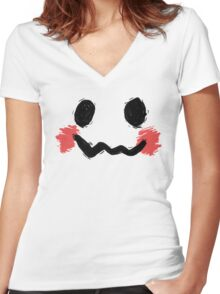 The Fake Mascot. Women's Fitted V-Neck T-Shirt