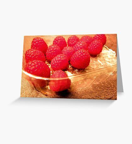 Fresh raspberries any time! Greeting Card