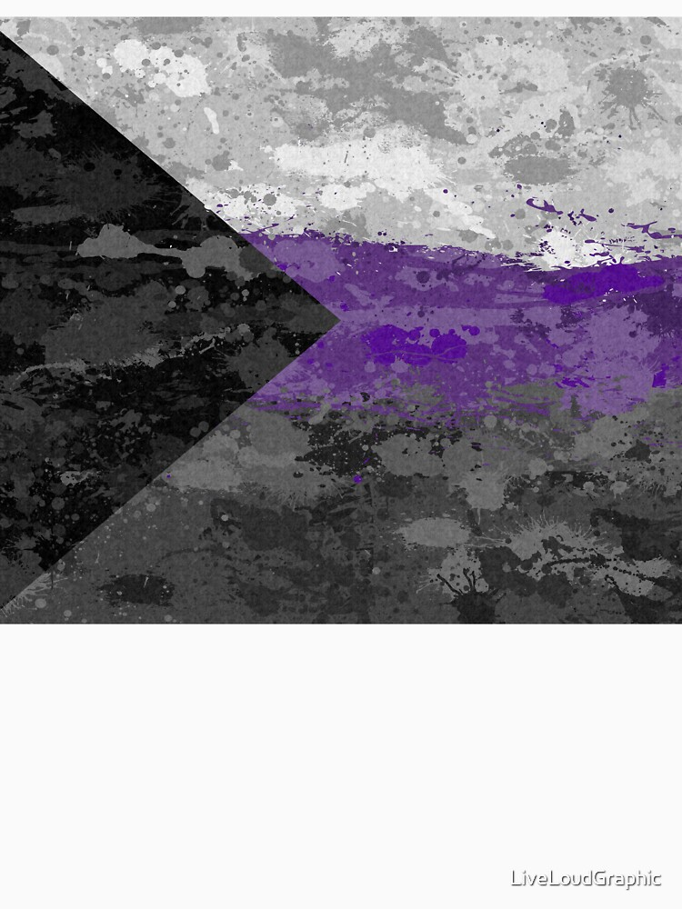 Demisexual Paint Splatter Flag by LiveLoudGraphic