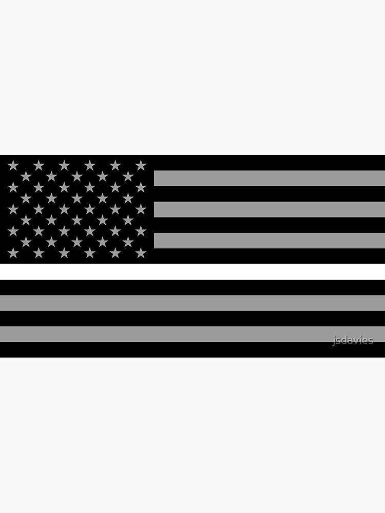 U.S. Flag: Thin White Line by MilitaryCandA