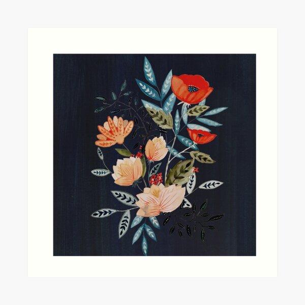 Midnight Bouquet Art Print