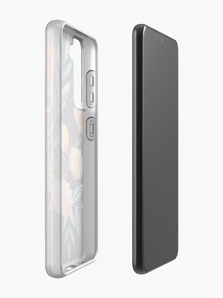 Alternate view of Midnight Bouquet Case & Skin for Samsung Galaxy