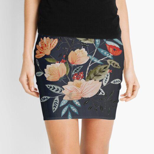 Midnight Bouquet Mini Skirt