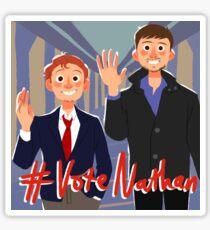 vote nathan Sticker