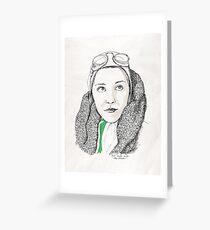 Inspiring Women: Amy Johnson Greeting Card