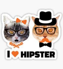 I <3 Hipster Sticker