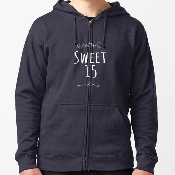 Sweet 15 Shirt Quinceanera Celebration Tee Zipped Hoodie