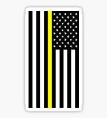 U.S. Flag: Thin Yellow Line Sticker