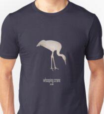 Whooping crane - Endangered and extinct species (dark background) Unisex T-Shirt
