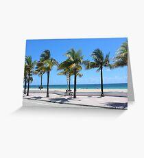 Florida, Fort Lauderdale Beach Greeting Card
