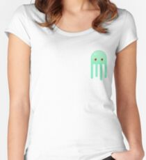 Lime Jellyfish Women's Fitted Scoop T-Shirt