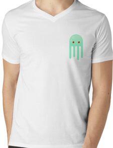Lime Jellyfish Mens V-Neck T-Shirt