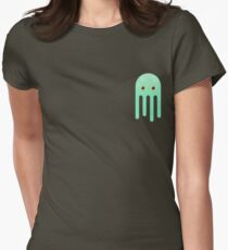 Lime Jellyfish Womens Fitted T-Shirt