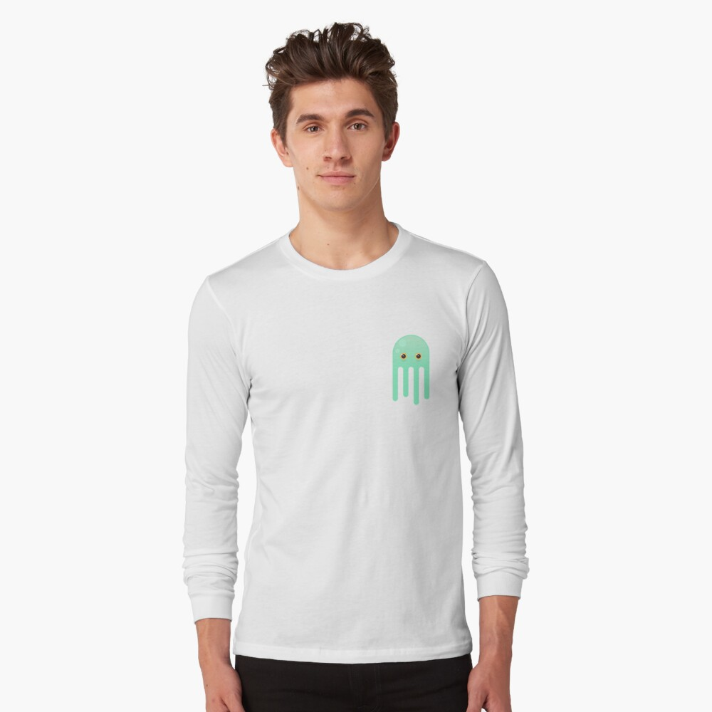 Lime Jellyfish Long Sleeve T-Shirt Front