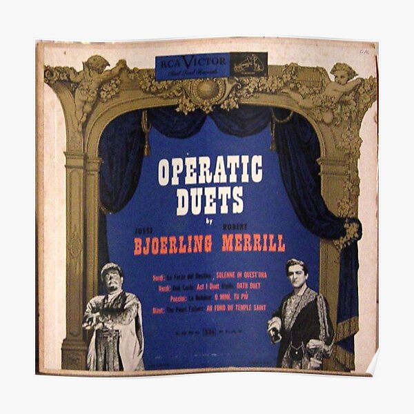 "Operatic Duets, 10"" lp, early 50's Poster"