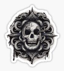 Helmet Skull  Sticker
