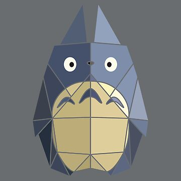 Origami Totoro Blue by McBethAllen