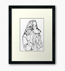 Inky Jess Framed Print