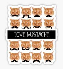 Love mustache Sticker