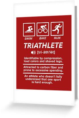 Triathlet Triathlon Definition Schwimmen Bike Run von Irregulariteez