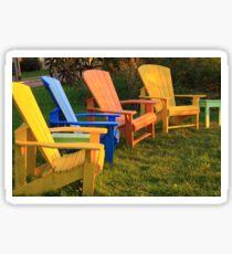 Colourful Muskoka Chairs Sticker