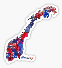 Watercolor Countries - Norway Sticker