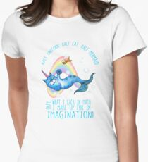 Half unicorn cat mermaid - unicatmaid Womens Fitted T-Shirt
