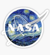 Starry NASA Sticker