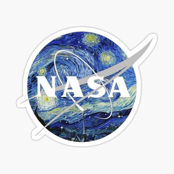 Starry NASA Sticker