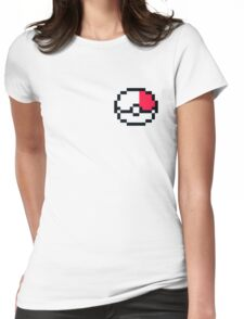Pixel Pokeball Womens Fitted T-Shirt