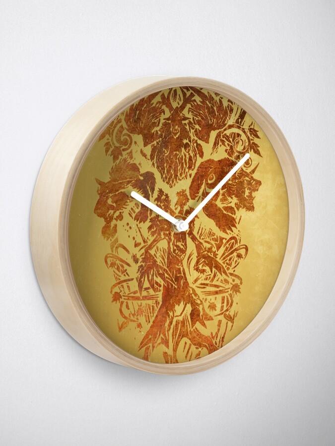 Alternative Ansicht von Warcraft Druide Emblem Uhr