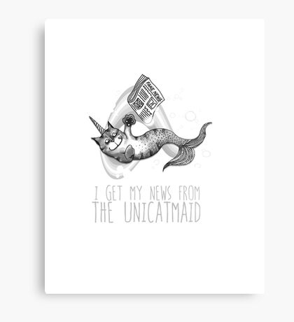 I get my news from the unicatmaid - fake news Metal Print