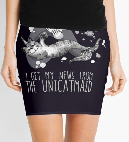 I get my news from the unicatmaid - fake news Mini Skirt