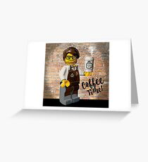 Lego's and Coffee Greeting Card