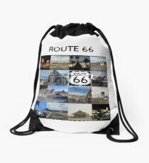 Route 66 Drawstring Bag