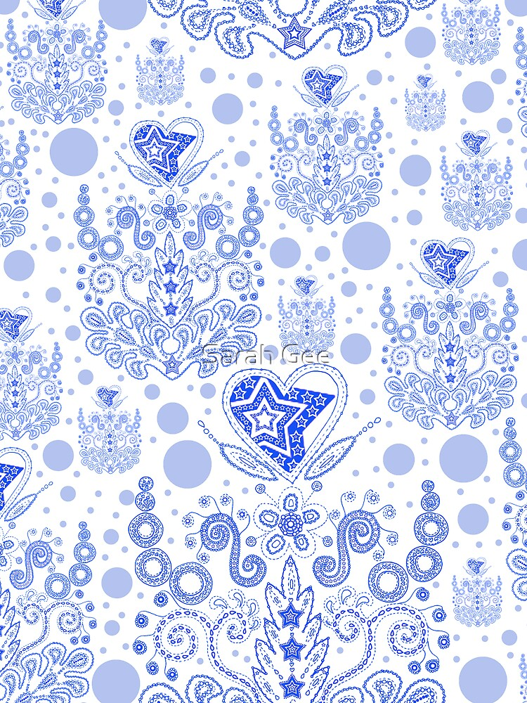 Blue baroque bubbles by Sarah Gee