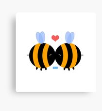 Bee Kisses Canvas Print