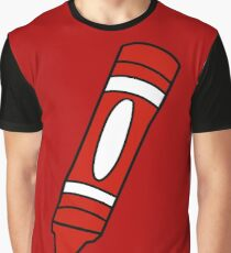Red Crayon Graphic T-Shirt