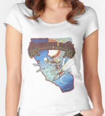 Grateful Surfer Women's Fitted Scoop T-Shirt