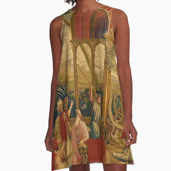 Beijing Observatory Chinoiserie A-Line Dress